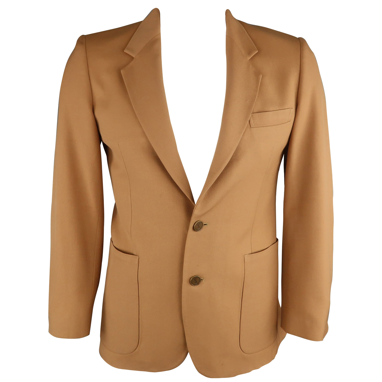 b63923bb13c Vintage YVES SAINT LAURENT 40 Tan Solid Notch Lapel Sport Coat For Sale at  1stdibs
