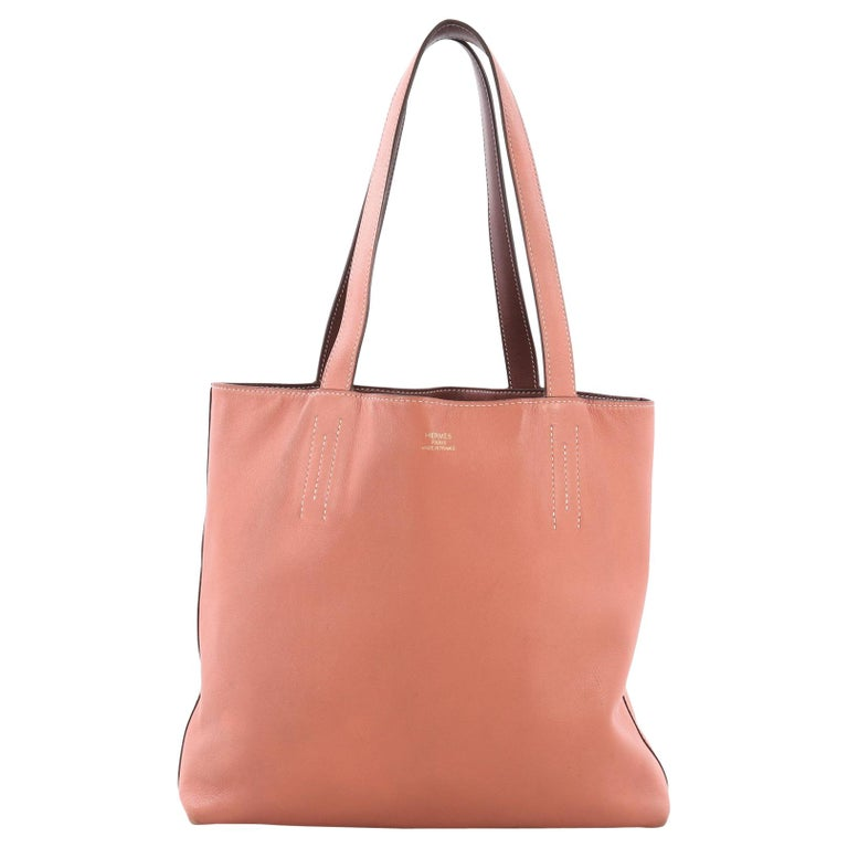 9ff620bfc4c7 Hermes Double Sens Tote Veau Sikkim 28 For Sale at 1stdibs
