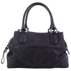 Chanel CC Bowling Bag Iridescent Goatskin Medium