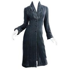 Rare Jorando Italian 2002 Does Roaring 1920s 20s Gray Silk Velvet Opera Jacket