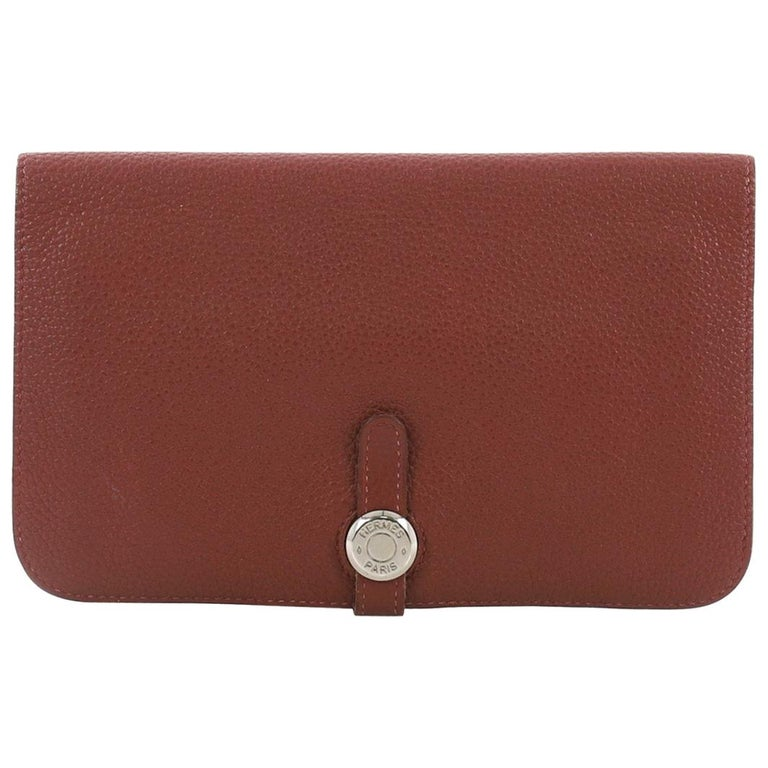 e041c2d4e411 Hermes Dogon Duo Combined Wallet Leather at 1stdibs