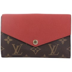 Louis Vuitton Pallas Compact Wallet Monogram Canvas and Calf Leathe