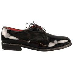 ALLEN EDMONDS Size 9.5 Black Leather Lace Up Shoes