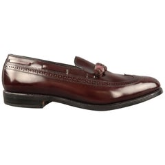 ALLEN EDMONDS Size 9.5 Manchester Brown Leather Slip On Loafers