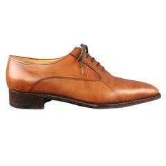 JOHN LOBB Size 10 Tan Leather Lace Up Shoes