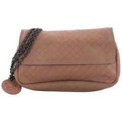 Bottega Veneta Expandable Chain Crossbody Bag Embossed Intrecciato Nappa Small