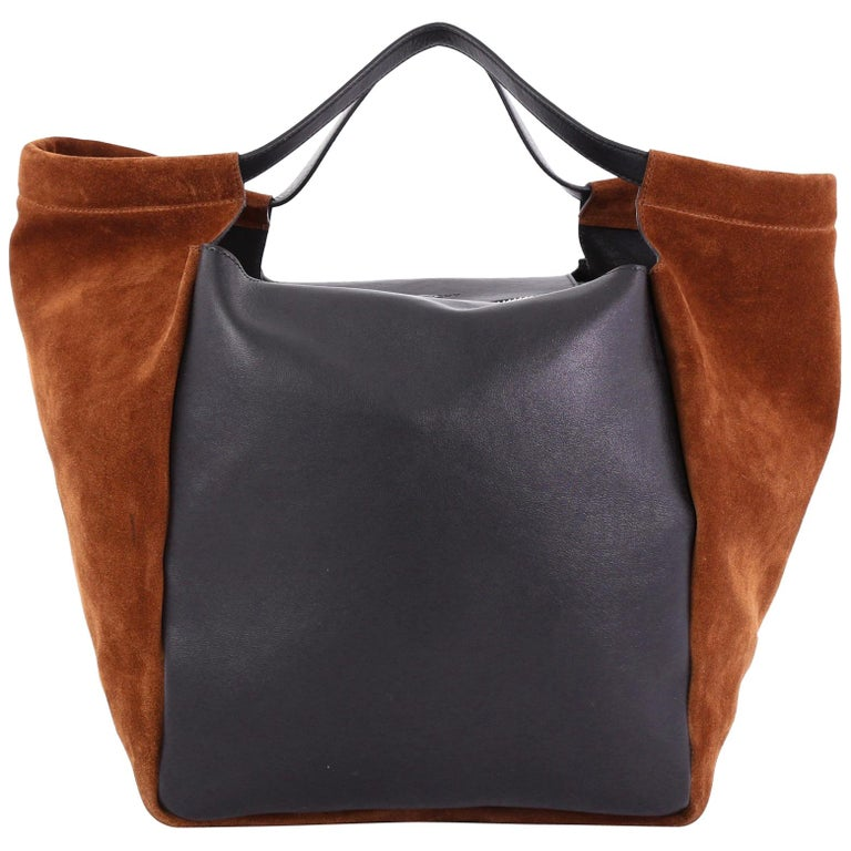 a86594a246 Givenchy Zip Shopping Tote Leather and Suede Large For Sale at 1stdibs
