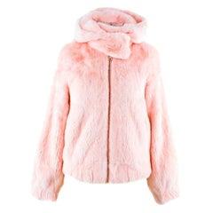 Snowxue Pink Cropped Mink Fur Jacket US 0-2
