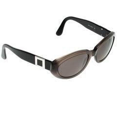 Bvlgari Schwarz/Braun 810 Ovale Sonnenbrille