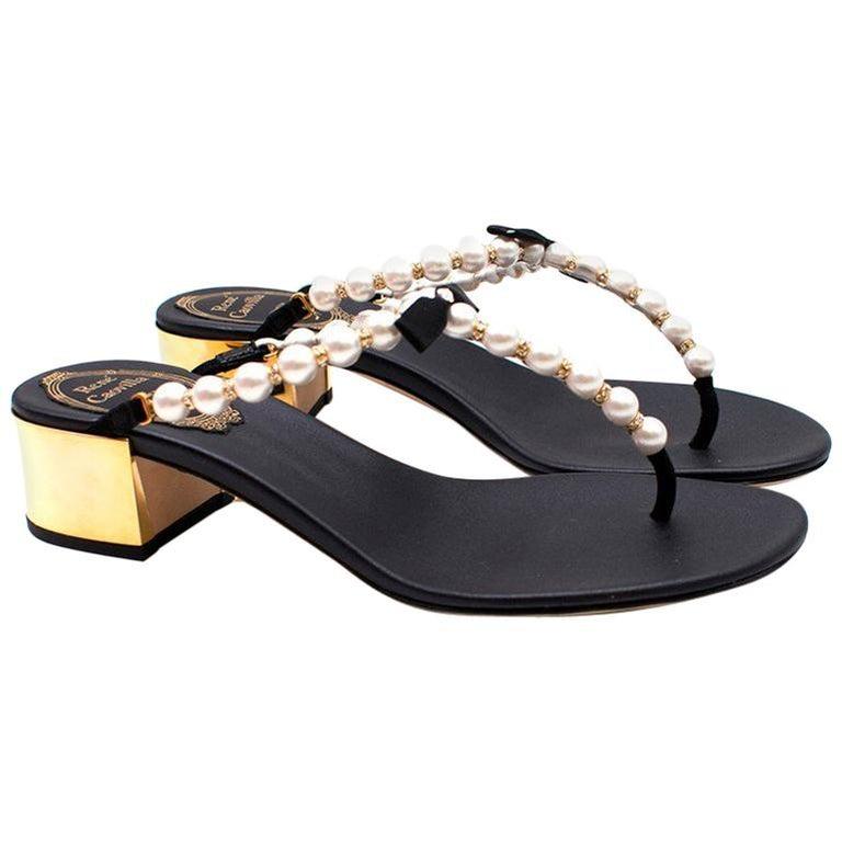 0625d8b89f4 Rene Caovilla Eliza Flip Sandals US 4.5 For Sale at 1stdibs