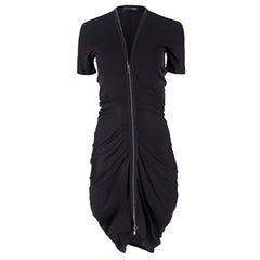 Alexander McQueen Black Zip Dress US 0-2