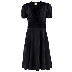 Temperley Black Silk Crochet Dress US 6