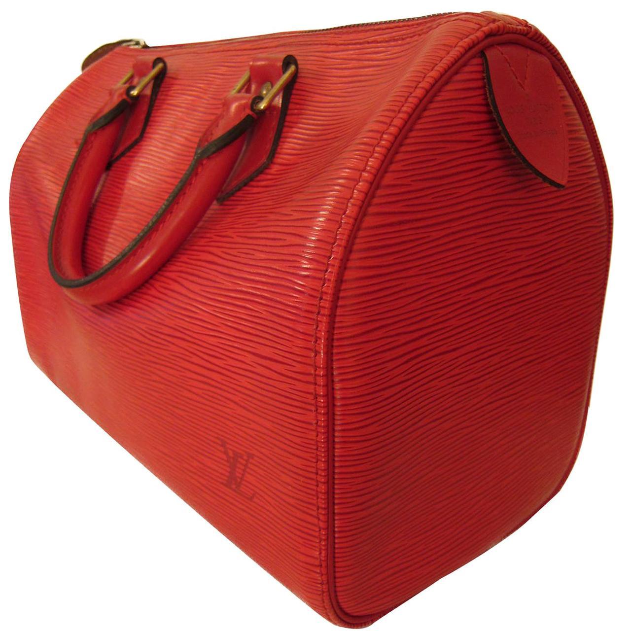 Louis Vuitton Speedy 30 Epi Red Handbag