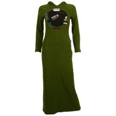 Jean Paul Gaultier Vintage Khaki Green Hooded Dress Size S