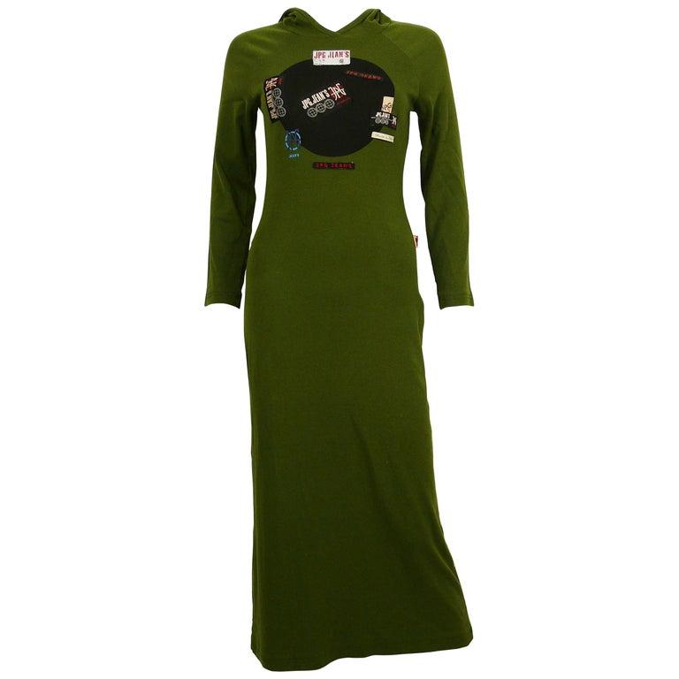 Jean Paul Gaultier Vintage Khaki Green Hooded Dress Size S For Sale ... 7084c841c