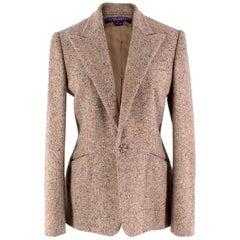 Ralph Lauren Collection Cashmere & Wool Tweed Jacket US 4