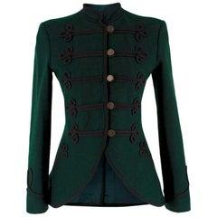 Ralph Lauren Green Wool Military Jacket US 6