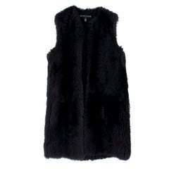 Ralph Lauren Black Label Lamb Shearling Gilet US 6