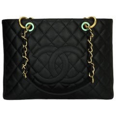 CHANEL Grand Shopping Tote (GST) Black Caviar with Gold Hardware 2009