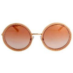 Dolce & Gabbana DG 2211 Blue Octagonal Sunglasses