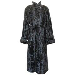 Christian Dior Black Lamb Fur Coat