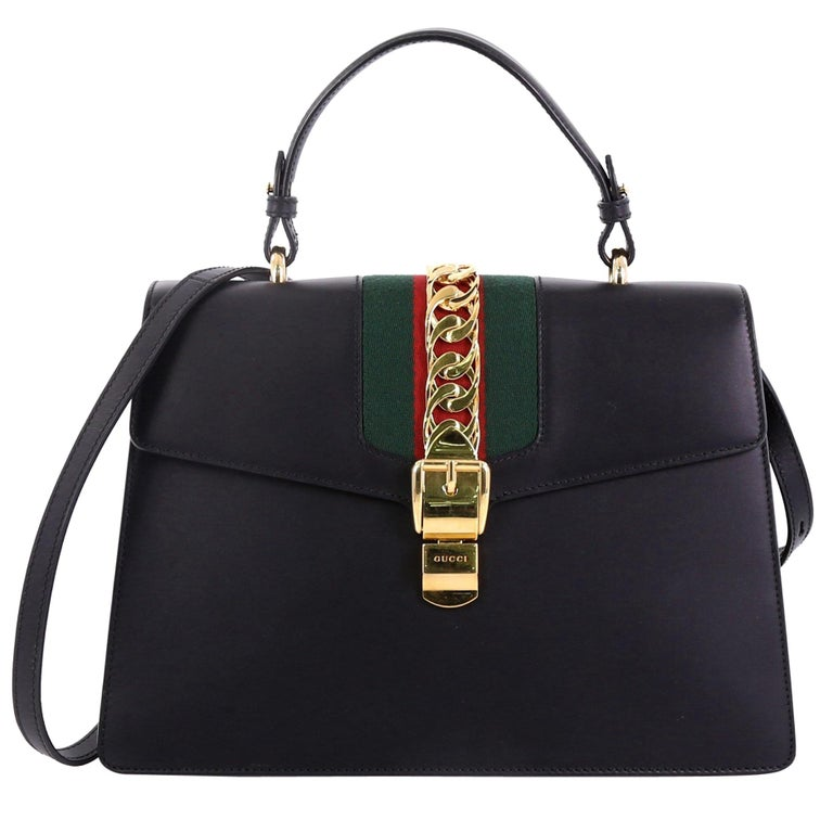 fd4d5b3cc9a Gucci Sylvie Top Handle Bag Leather Medium For Sale at 1stdibs