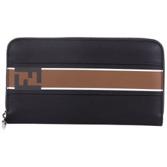 Fendi Forever Zip Around Wallet Printed Leather Long