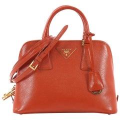 Prada Promenade Handbag Vernice Saffiano Leather Small
