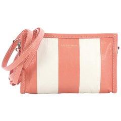 Balenciaga Bazar Crossbody Bag Striped Leather,