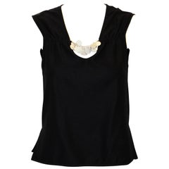 Chanel Sleeveless Top With Decorative CC Coins V Neck Spring 2006 Collection