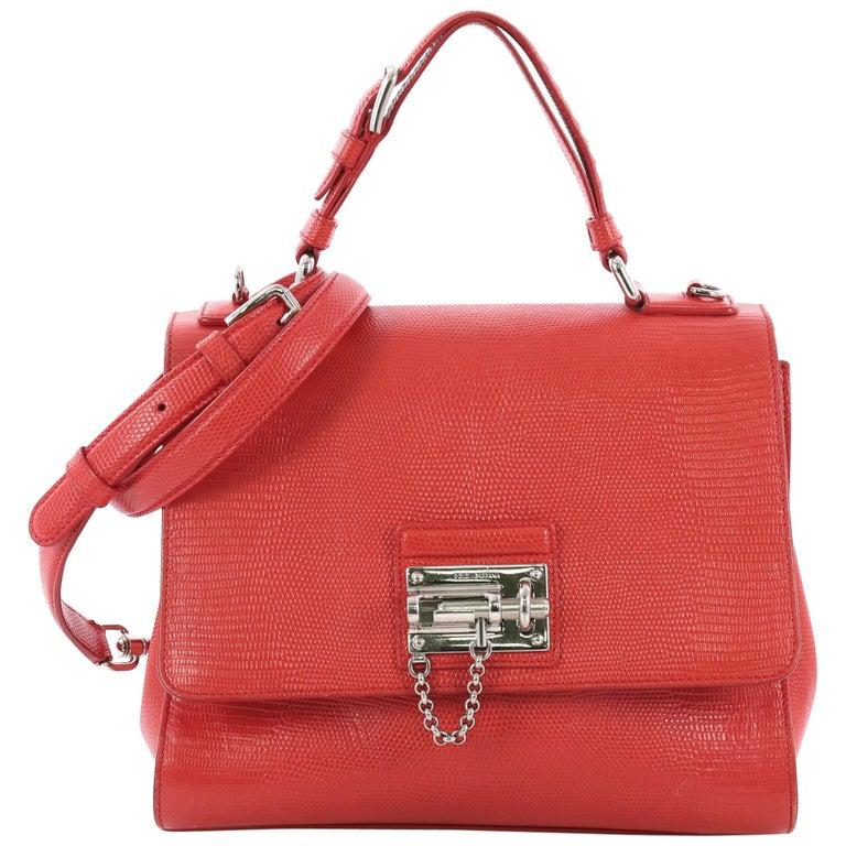 792b04c136 Dolce and Gabbana Monica Handbag Lizard Embossed Leather Medium For ...