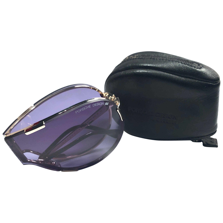Mint Vintage Porsche Design 5629 Silver Foldable Sunglasses 1990s