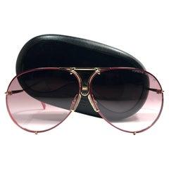 New Vintage Porsche Design By Carrera 5623 Red & Gold Large Sunglasses Austria