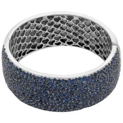 Sterling Silver Sapphire Bangle