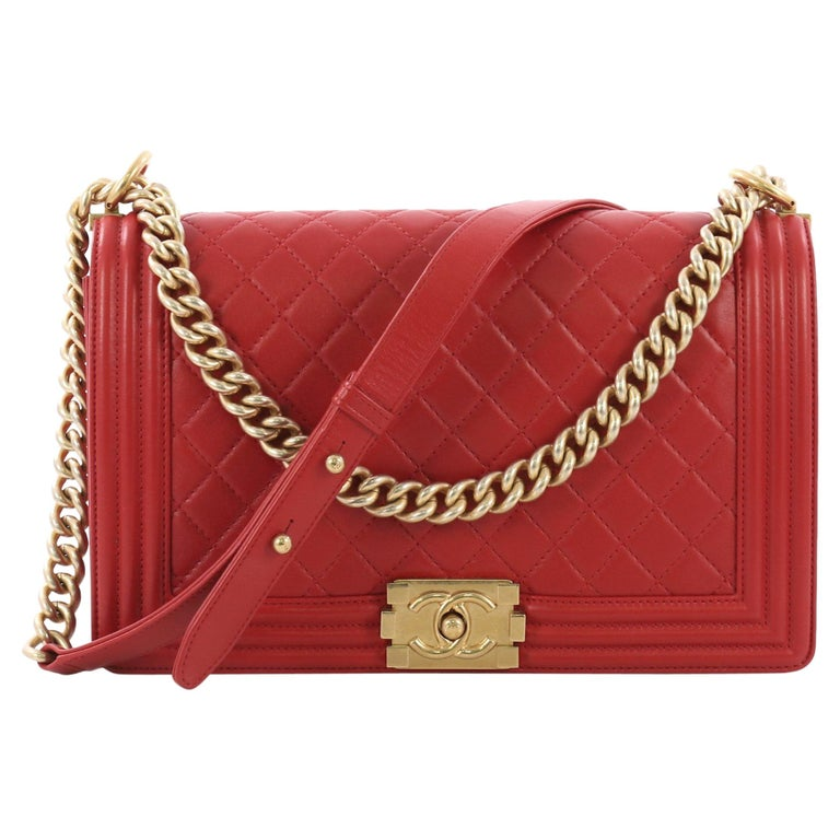 d412c6353410 Chanel Boy Flap Bag Quilted Lambskin New Medium For Sale at 1stdibs