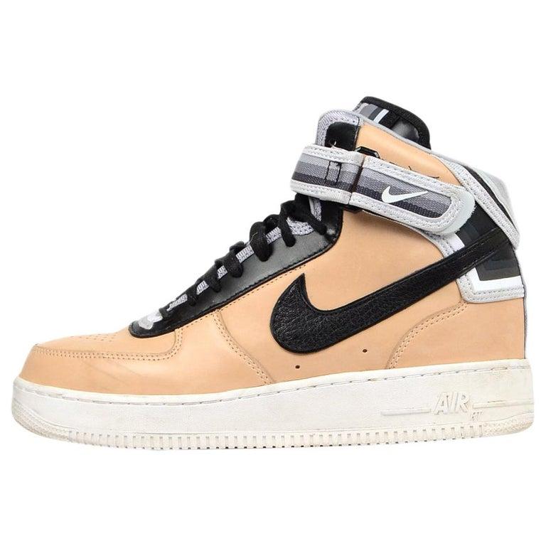 100% authentic da6b7 1d6b6 Nike Mens TanBlack Vachetta Leather Air Force 1 Mid SpTisci BoxBag Sz  8.5 For Sale at 1stdibs