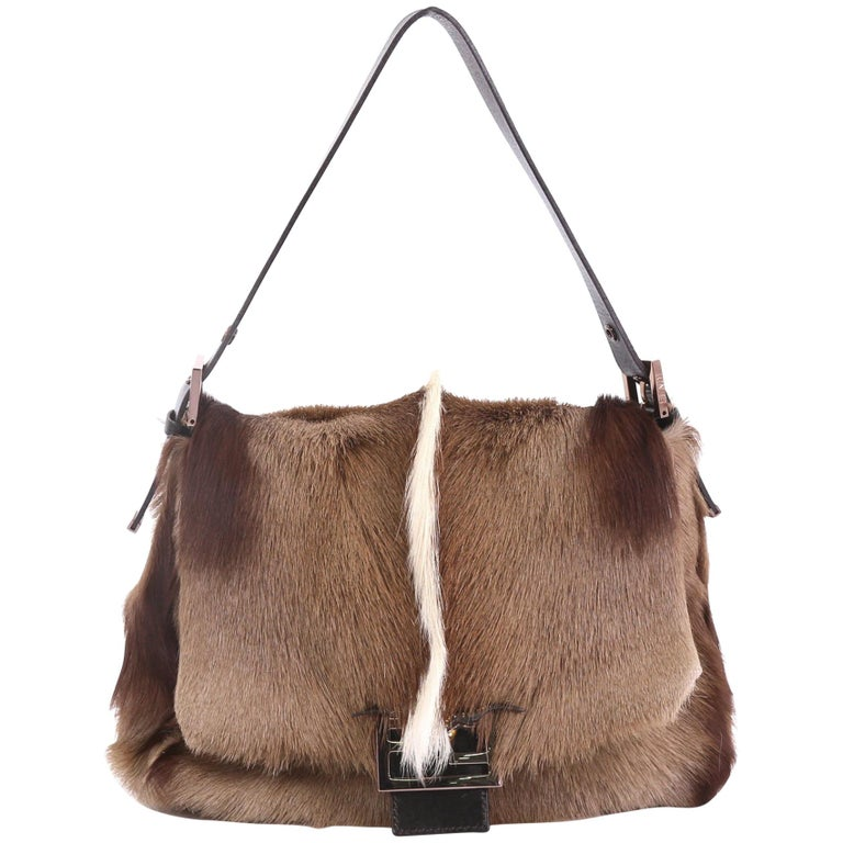 f4dc8ad5bfc1 Fendi Forever Big Mama Handbag Gazelle Hair For Sale at 1stdibs