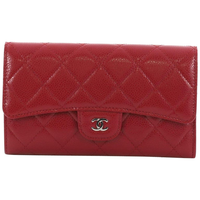 871beec0634854 Chanel L-Flap Wallet Quilted Caviar Long at 1stdibs