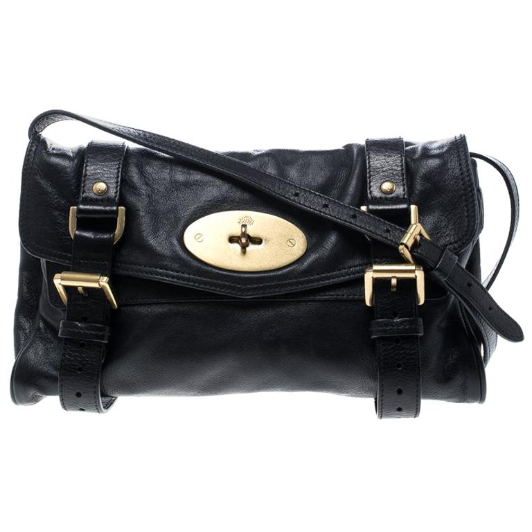 Mulberry Black Leather Alexa Shoulder Bag For Sale 3781ff4aa4cdc