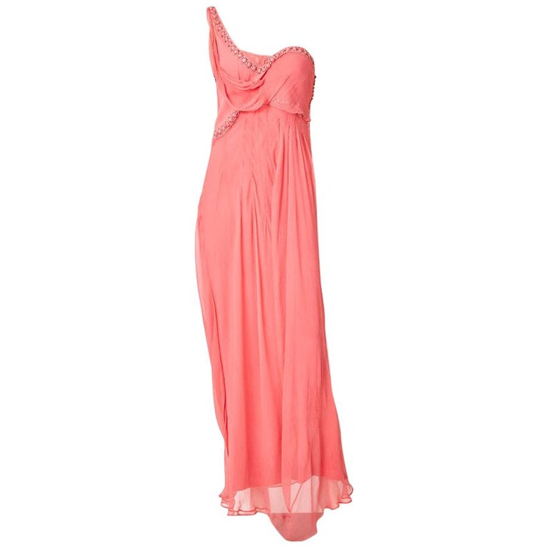 John Galliano For Dior Chiffon Gown For Sale