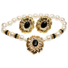 Kenneth Jay Lane Sunflower Necklace and Earrings