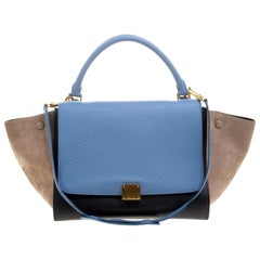 Celine Tri Color Leather Medium Trapeze Tote