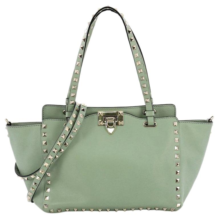 60238f2aa3d89 Valentino Rockstud Tote Soft Leather Small For Sale