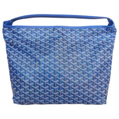 1990s Goyard Fidji Hobo Royal Blue Leather Tote Bag