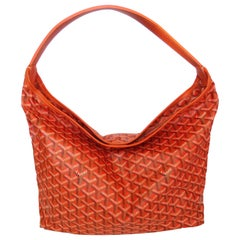 1990s Goyard Fidji Hobo Orange Leather Tote Bag
