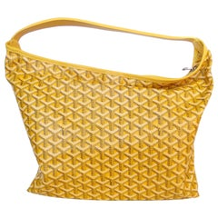 1990s Goyard Fidji Hobo Yellow Leather Tote Bag
