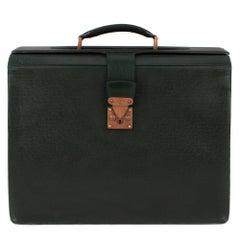 Louis Vuitton Ural Pilot Case Green Taiga Leather Cartable