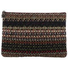 Chanel Paris-Salzburg O Case Clutch Tweed Large