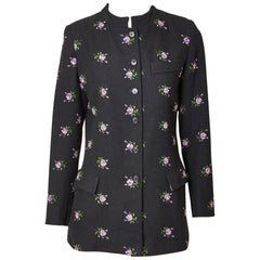 Yves Saint Laurent Rive Gauche  Embroidered Wool Jacket