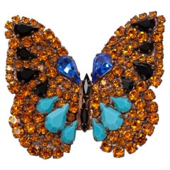 Robert Goossens for Yves Saint Laurent Butterfly Brooch